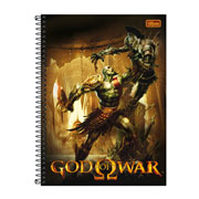 Caderno Universitário God of War 01 mt 96 fls
