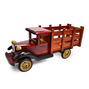 Caminhão de madeira 38 cm