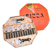 Jogo para pizza preto 14 pçs