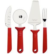 Jogo para pizza vermelho 14 pçs