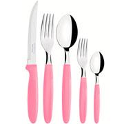 Faqueiro inox ipanema rosa 30 peças