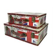 Jogo maleta de madeira Londres 02 pçs