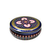 Lata decorativa arabesco azul 14 cm