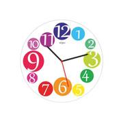 Relógio Wood Números Colors 29 cm
