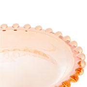 Travessa de cristal oval pearl ambar 30x15 cm