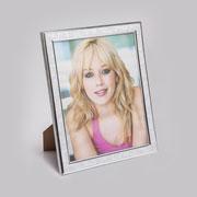 Porta retrato plastico prateado 13x18 cm