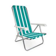 Cadeira reclinável com 04 posições em alumínio