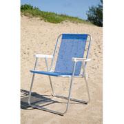 Cadeira alta de alumínio azul