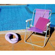 Cadeira alta de alumínio lilás