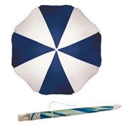 Guarda-sol azul marinho e branco 1,80m