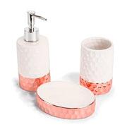 Jogo de banheiro de cerâmica elegance 03 peças