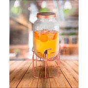 Suqueira de vidro com suporte renne 4 litros