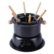 Conjunto para fondue preto 11 peças