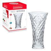 Vaso decorativo de vidro Miranda 23 cm - Hauskraft