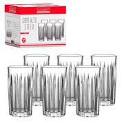 Jogo de copo de vidro alto Egeu 260 ml 06 peças