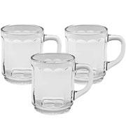Conjunto de Canecas de vidro Tokio 250 ml 03 peças - Hauskraft