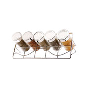Porta condimento com suporte horizontal 06 peças
