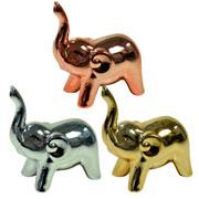 Elefante de cerâmica metalizado colors 10x05 cm