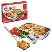 Conjunto de inox para lasanha 03 pçs - Euro