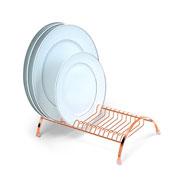 Escorredor de pratos line rosê 18 pratos