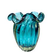 Vaso de Murano Gloriosa Acqua 15x17 cm
