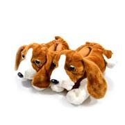 Pantufa de pelúcia Beagle