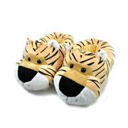 Pantufa de pelucia tigre tam p/m/g