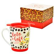 Caneca Bolo de café com tampa 350 ml