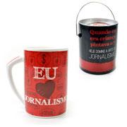 Caneca Jornalista com embalagem de lata 300 ml
