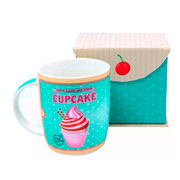 Caneca de porcelana Cupcake verde 320 ml