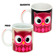 Caneca de ceramica magic corujinha 300 ml