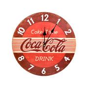 Relógio de parede em madeira Coke Time