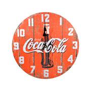 Relógio de parede em madeira Coca- Cola