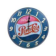 Relógio de parede em madeira Pepesi-Cola