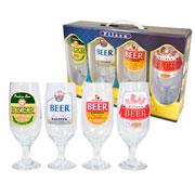 Conjunto de taça para cerveja rótulos Cervejeiro 04 peças