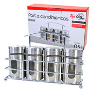 Conjunto porta condimentos top chef 80 ml 05 peças