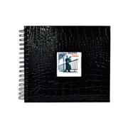 Albúm Scrapbook preto 15x21 cm
