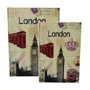 Jogo Livro Decorativo London 02 pçs