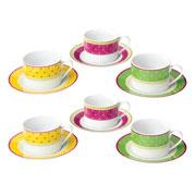 Jogo de xícaras para chá 12 pçs