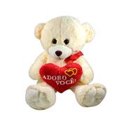 Urso com coração Adoro você! M