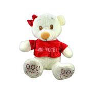 Urso fofo de camisa amo você 40 cm
