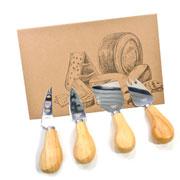 Kit de faca para queijo 04 peças