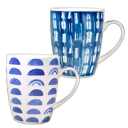 Caneca de porcelana estampada Azul colors 350 ml