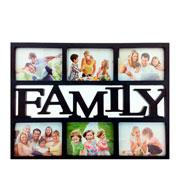 Quadro família preto para 6 fotos 10 x 15 cm