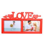 Porta Retrato vermelho love 10x15 para 02 fotos