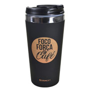 Copo térmico viagem foco força e café 450 ml