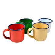 Conjunto de Caneca colors esmaltada 90 ml 4 peças