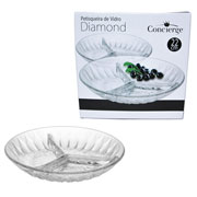 Petisqueira de vidro Diamond 22 cm