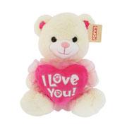 Bicho de pelúcia Urso com coração 35 cm