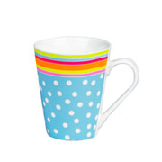 Caneca de porcelana Poá Colorida 290 ml